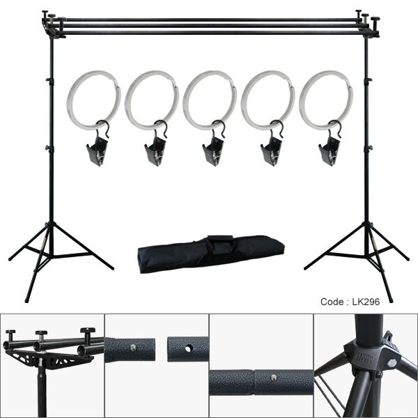 10ft Triple Crossbar Background Support Stand Photo Studio