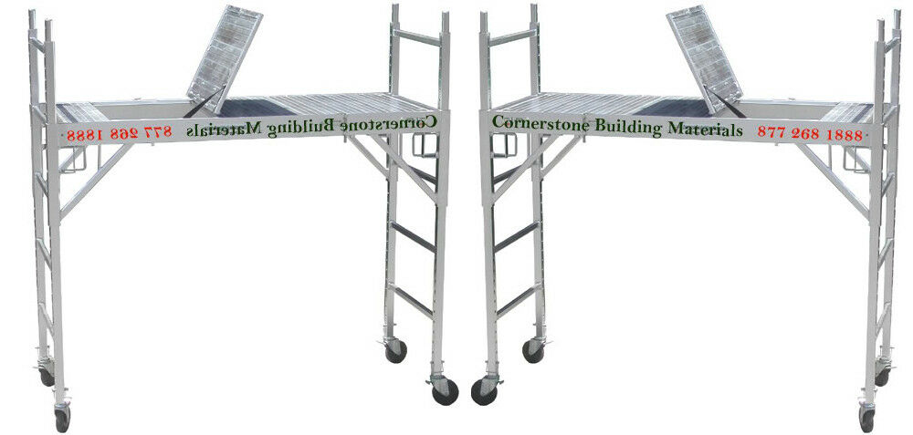 Aluminum Rolling Scaffold : All aluminum scaffolding rolling tower with