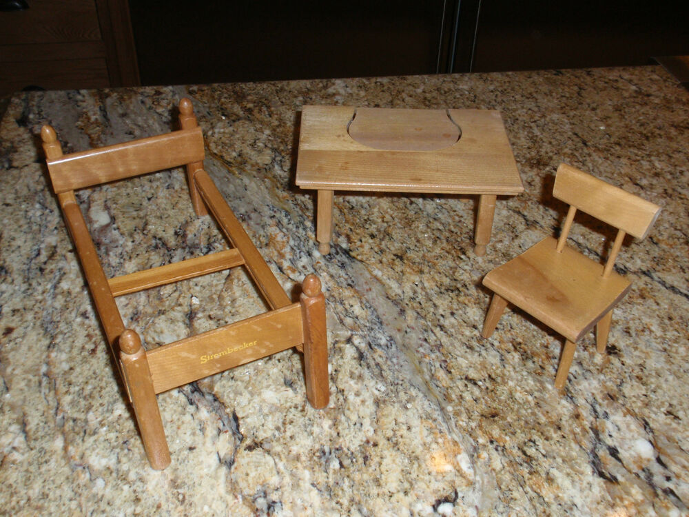 Three vintage s strombecker wooden doll furniture ebay