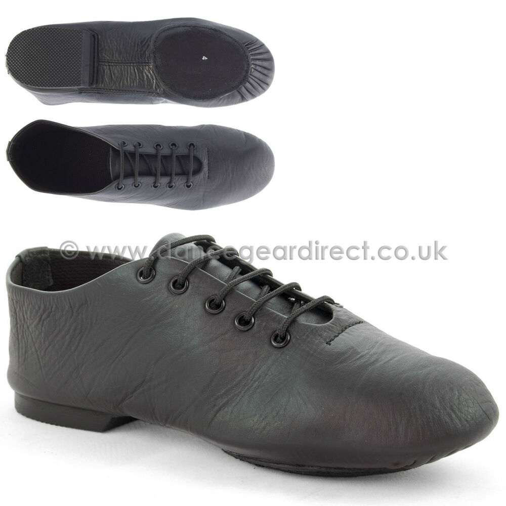 Black Leather Economy Split Sole Dance Modern Jazz Shoes ...