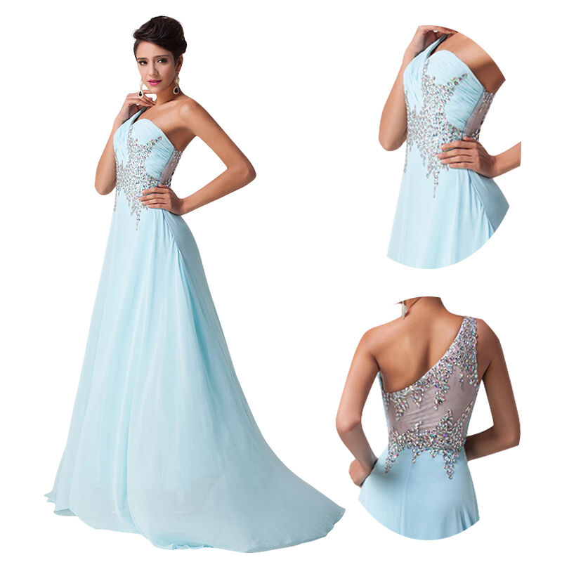 Long chiffon evening formal bridesmaid wedding dresses for Ebay wedding bridesmaid dresses