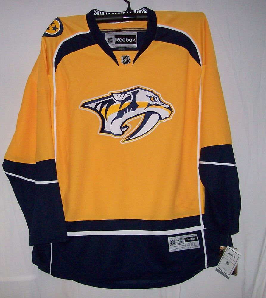 Nashville predators youth reebok premier 7185 home jersey for Nashville predators jersey
