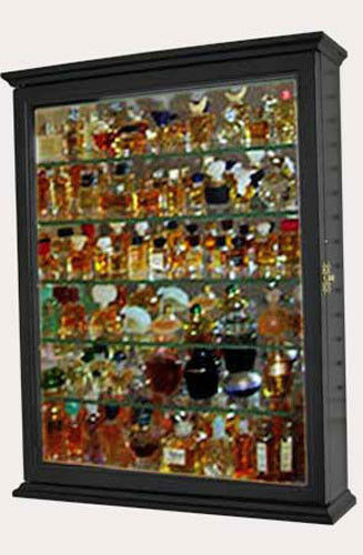 Miniature Perfume Bottle Display Case Shadow Box Wall