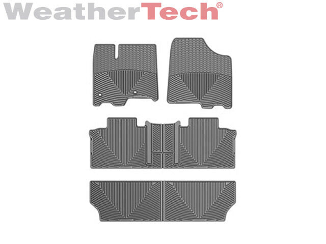Where To Buy Weathertech >> WeatherTech All-Weather Car Mats for Toyota Sienna 8-Passenger 2013-2016 - Grey | eBay