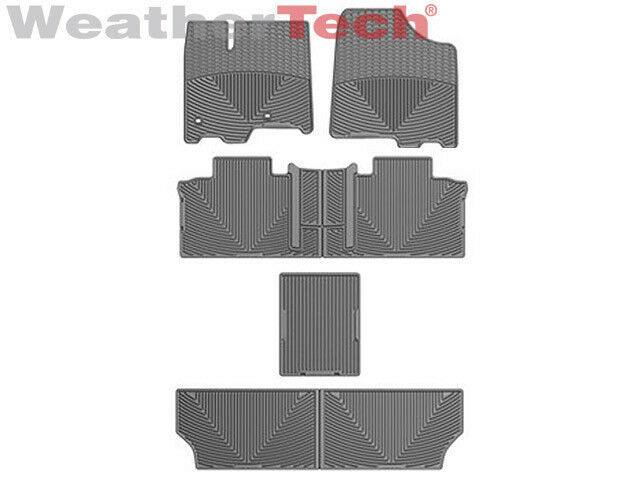 weathertech all weather car mats for toyota sienna 7 passenger 2013 2016 grey ebay. Black Bedroom Furniture Sets. Home Design Ideas