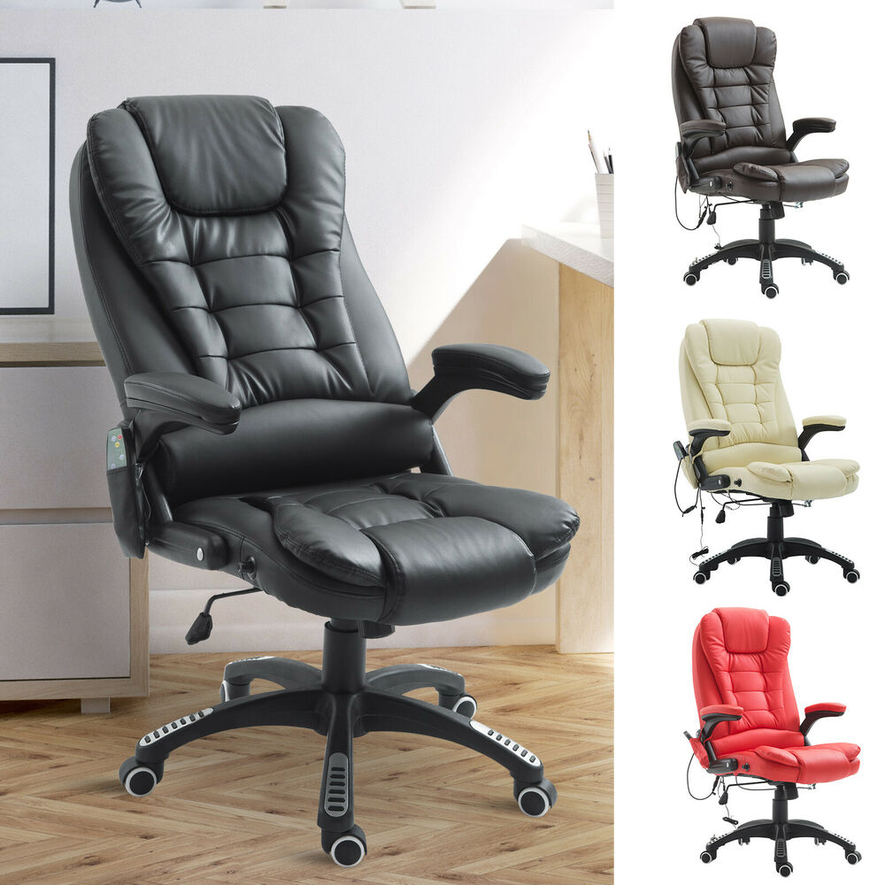 Home Office Computer Desk Massage Chair Executive Ergonomic Heated ...