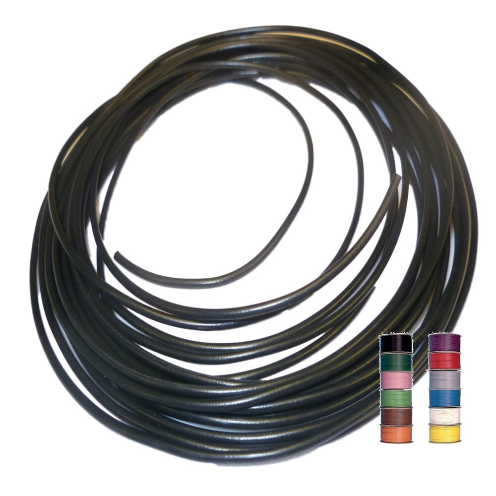 Automotive Wire And Cable : Black tracers thinwall mm automotive cable wire