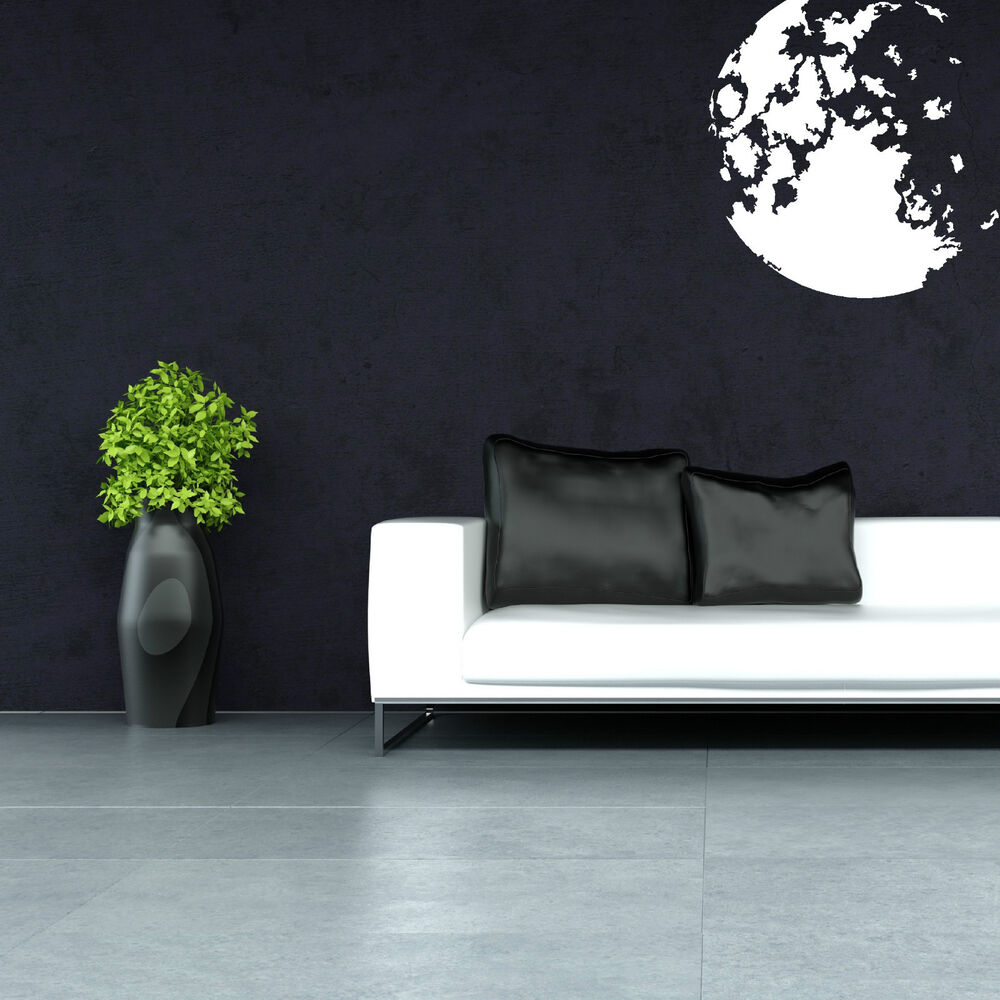 The moon space universe planet star vinyl wall art sticker for Outer space vinyl wall decals