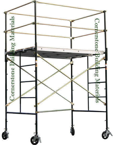 4 Aluminum Rolling Scaffold : Heavy duty scaffold rolling tower  quot standng