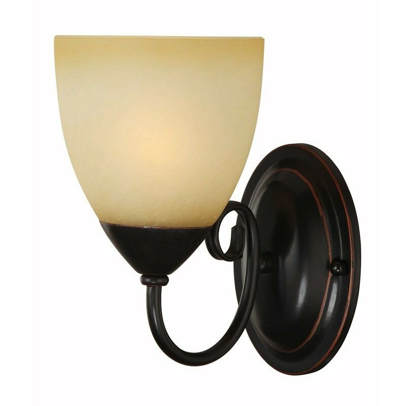 Oil Rubbed Bronze 1 Bulb Bathroom Light Wall Sconce 168137 Ebay