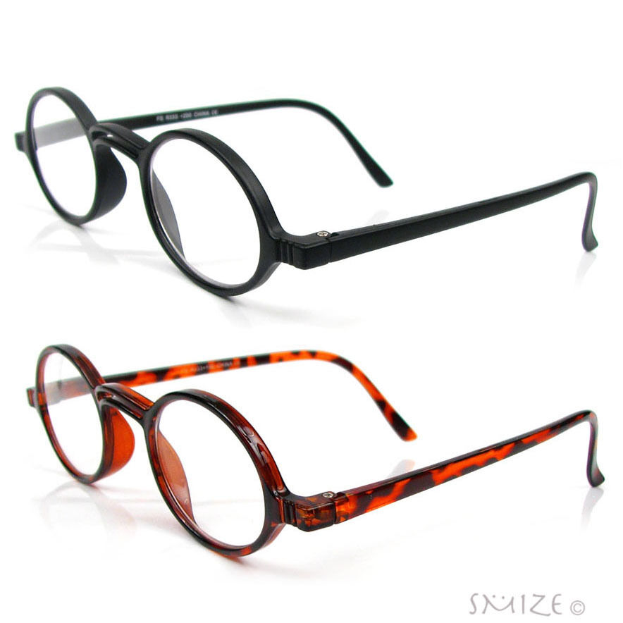 Retro Style Small Round Reading Glasses Single Vision Full