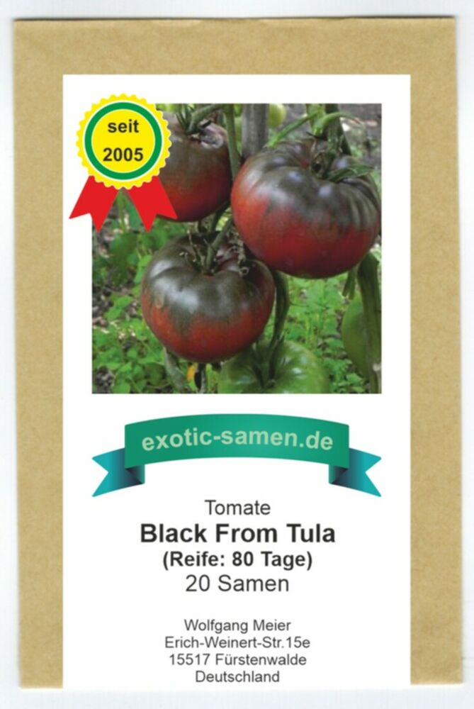 tomate black from tula schwarze fleischtomate 20 samen ebay. Black Bedroom Furniture Sets. Home Design Ideas