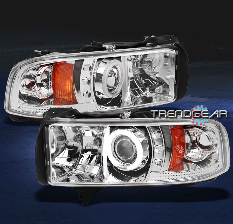 1994-2001 DODGE RAM TRUCK CCFL HALO LED CLEAR PROJECTOR
