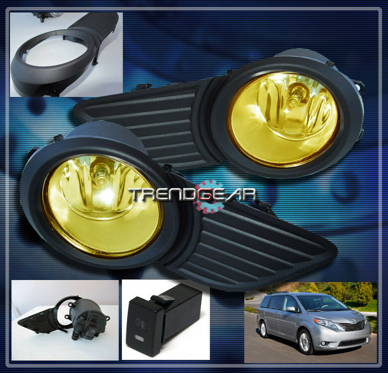 2011 2017 toyota sienna le jdm bumper driving yellow fog lights lamp switch bulb ebay. Black Bedroom Furniture Sets. Home Design Ideas