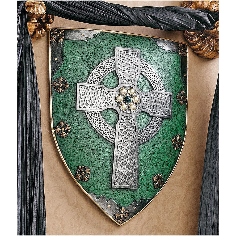 Legendary shield of faith medieval style celtic battle for Medieval decor