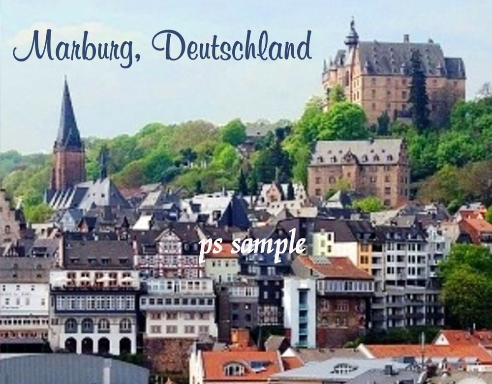 germany marburg deutschland travel souvenir flexible fridge magnet ebay. Black Bedroom Furniture Sets. Home Design Ideas