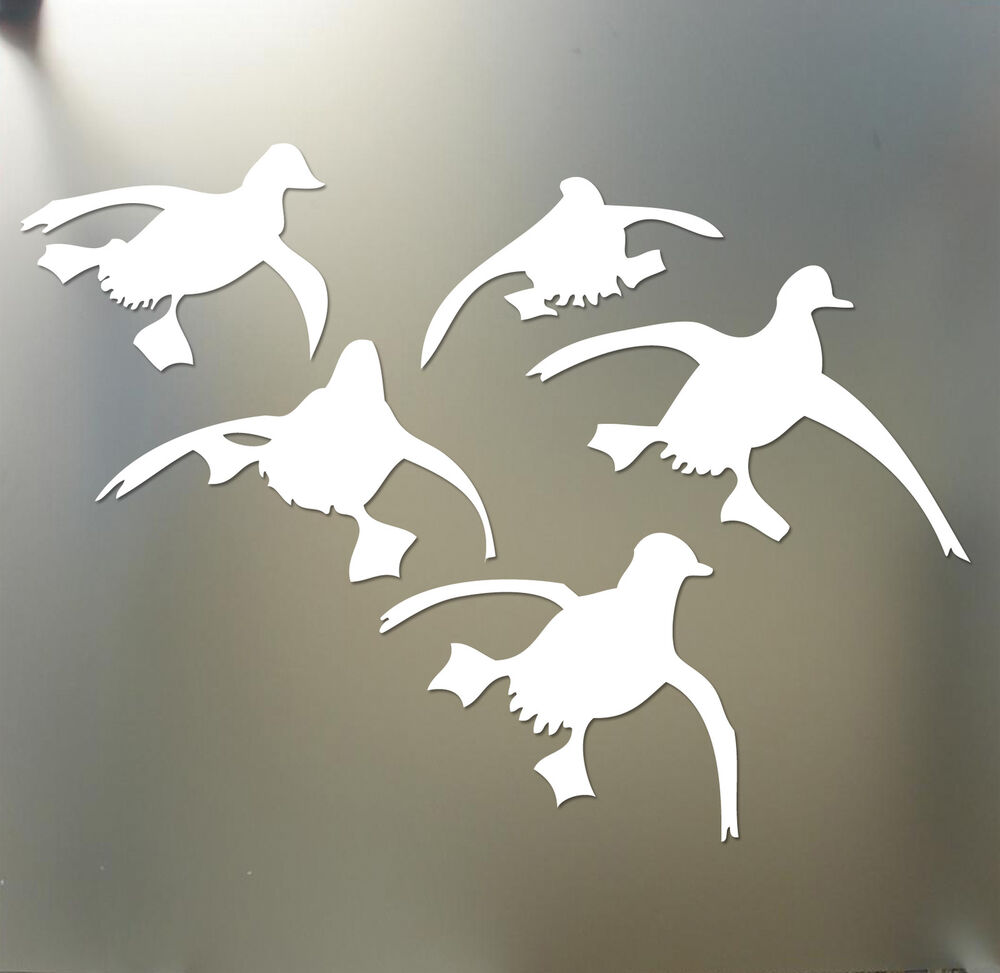 Flying ducks landing hunting decals sticker waterfowl for Duck hunting mural