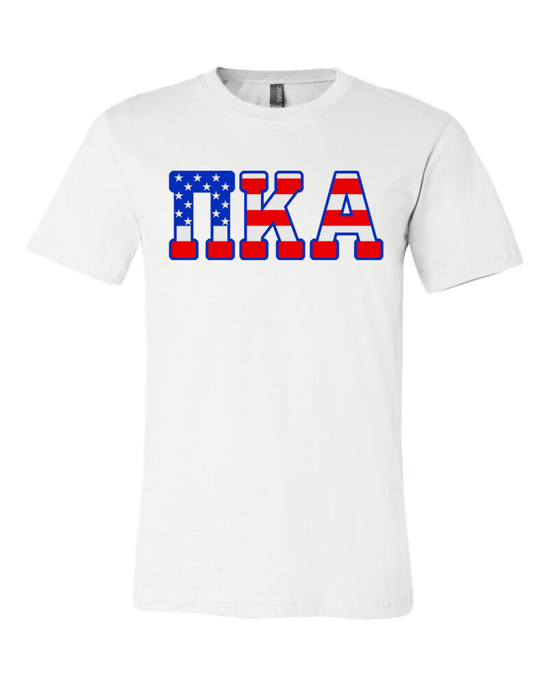 Pi kappa alpha bella canvas t shirt pike fraternity usa for American apparel sorority shirts