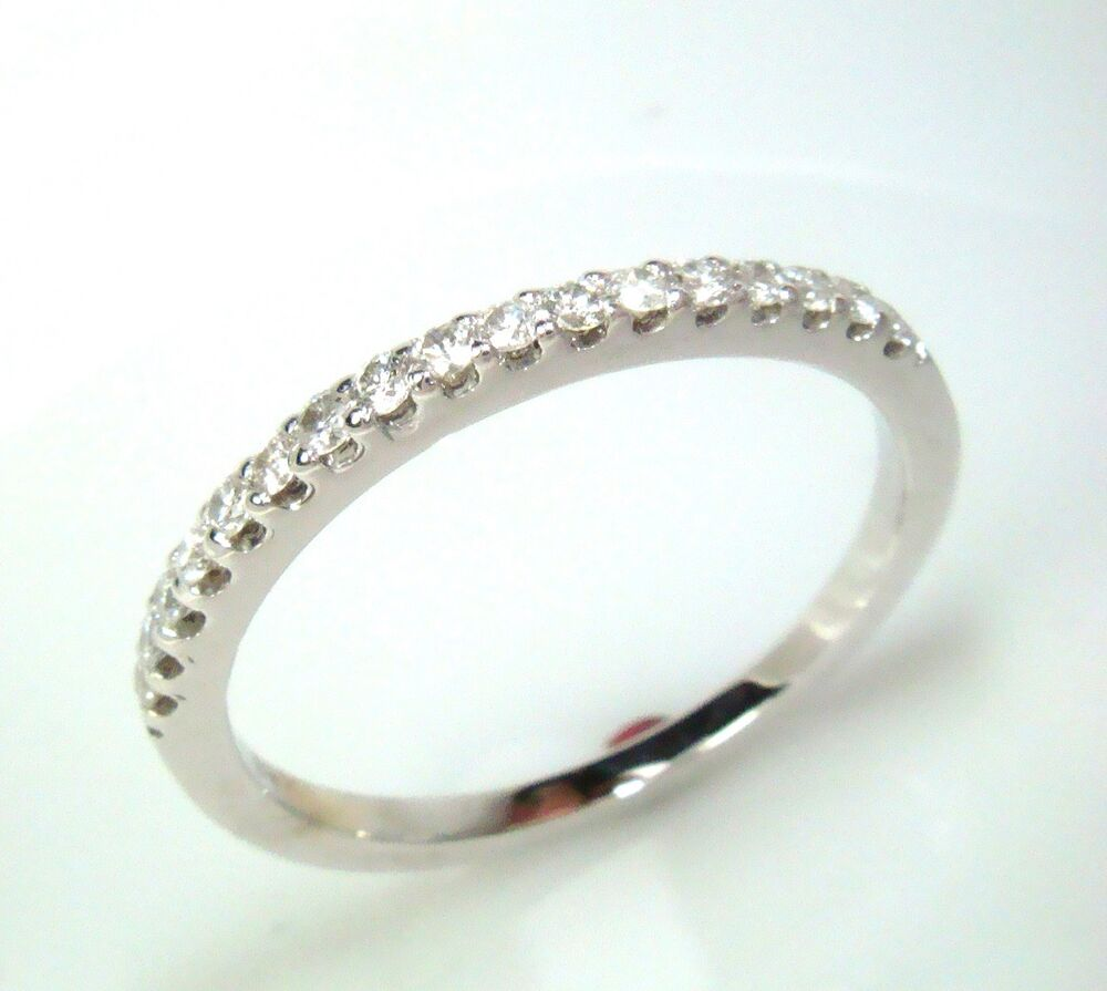 wedding ring band classic 14k white gold
