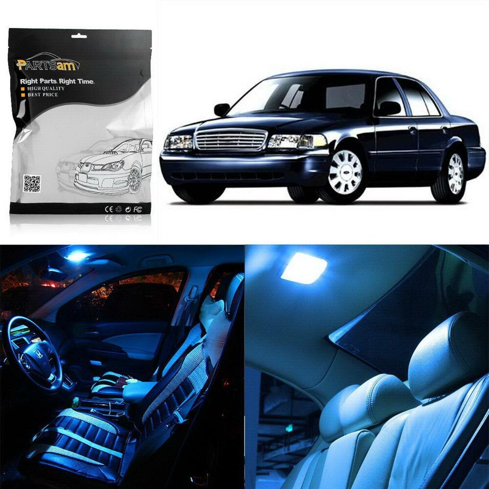 Ice Blue Led Interior Light Bulb Package Combo For Map Dome Lamp T10 Wedge 6411 Ebay