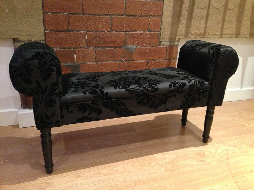 new designer style boudoir damask black chaise longue