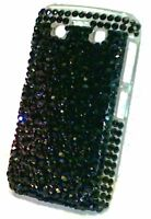 Blackberry Bold 9700 9780 Black Crystal Rhinestone protective case bling
