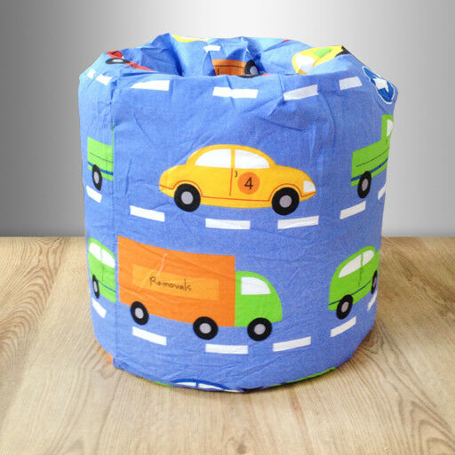 Children s Bean Bag Traffic Express Boys Cars Kids Bedroom