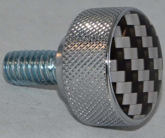 Carbon Air Cleaner : Chrome billet quot carbon fiber knurled air cleaner bolt for