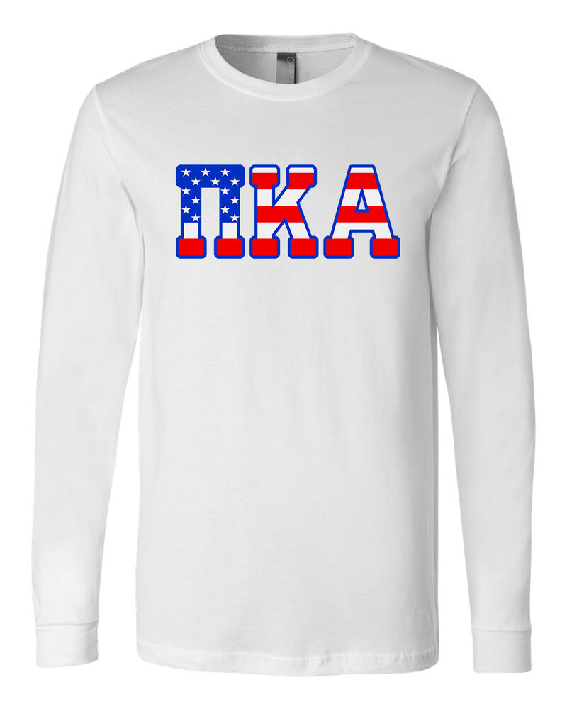 pi kappa alpha bella canvas long sleeve t shirt usa pike letters all sizes ebay