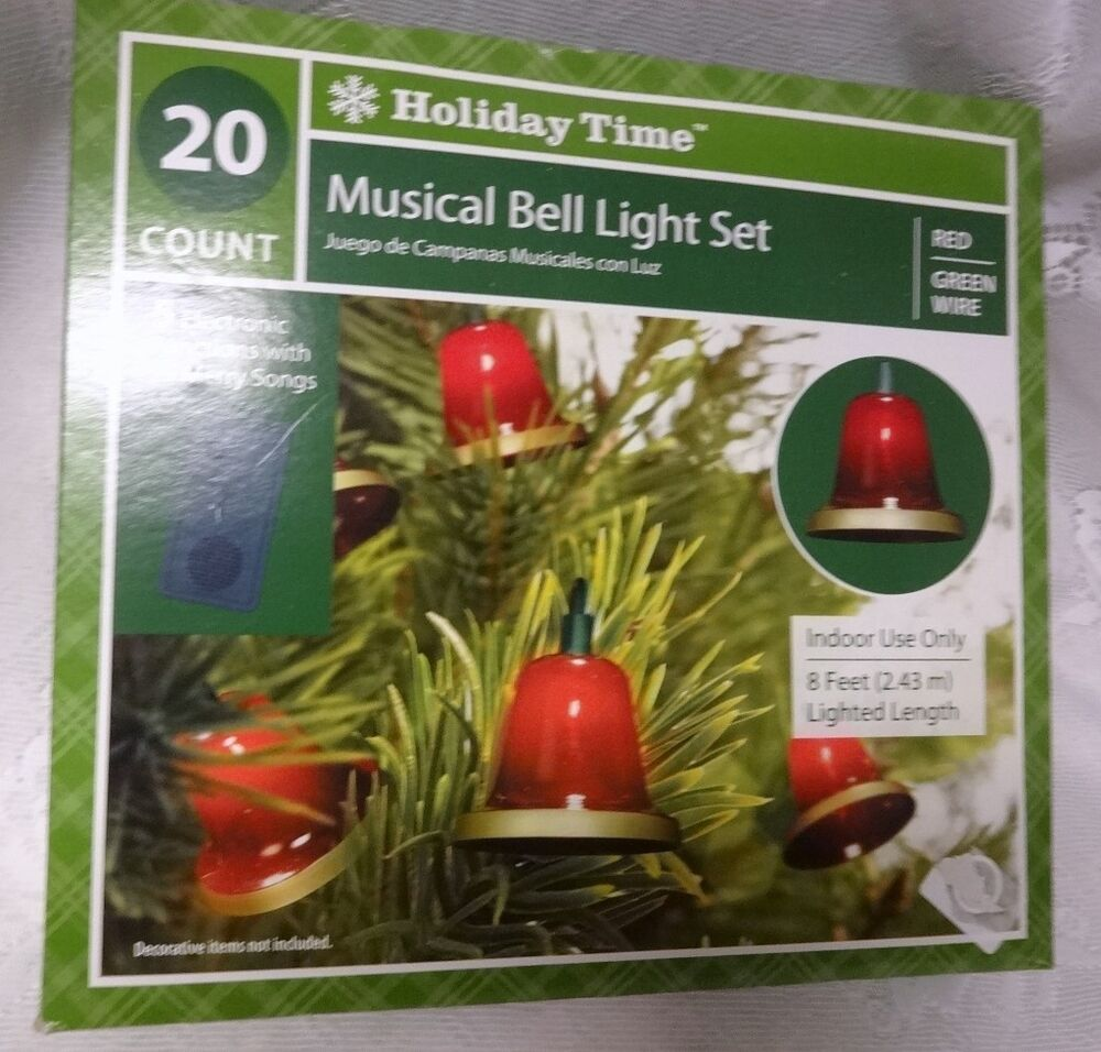 Vintage Retired Holiday Time Musical Bells 8 ft. Christmas ...