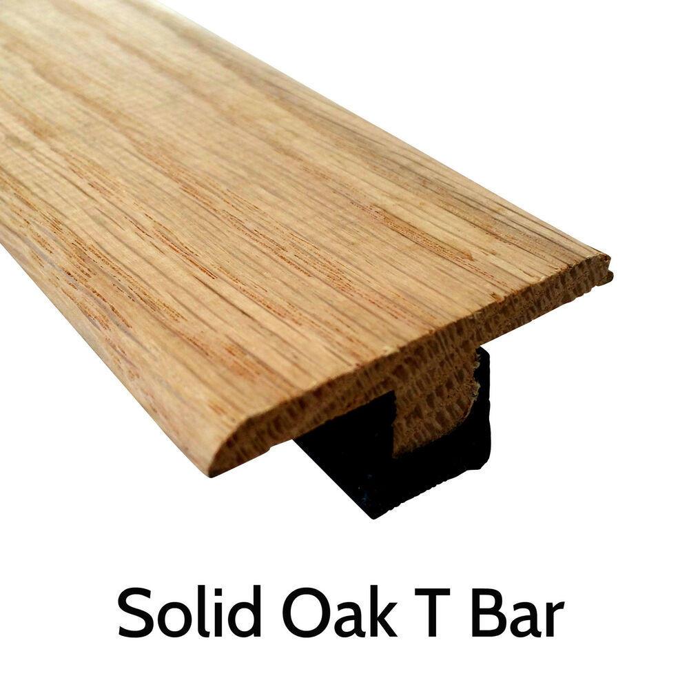 Solid Oak T Section Threshold Door Bar Trim 900mm Strip