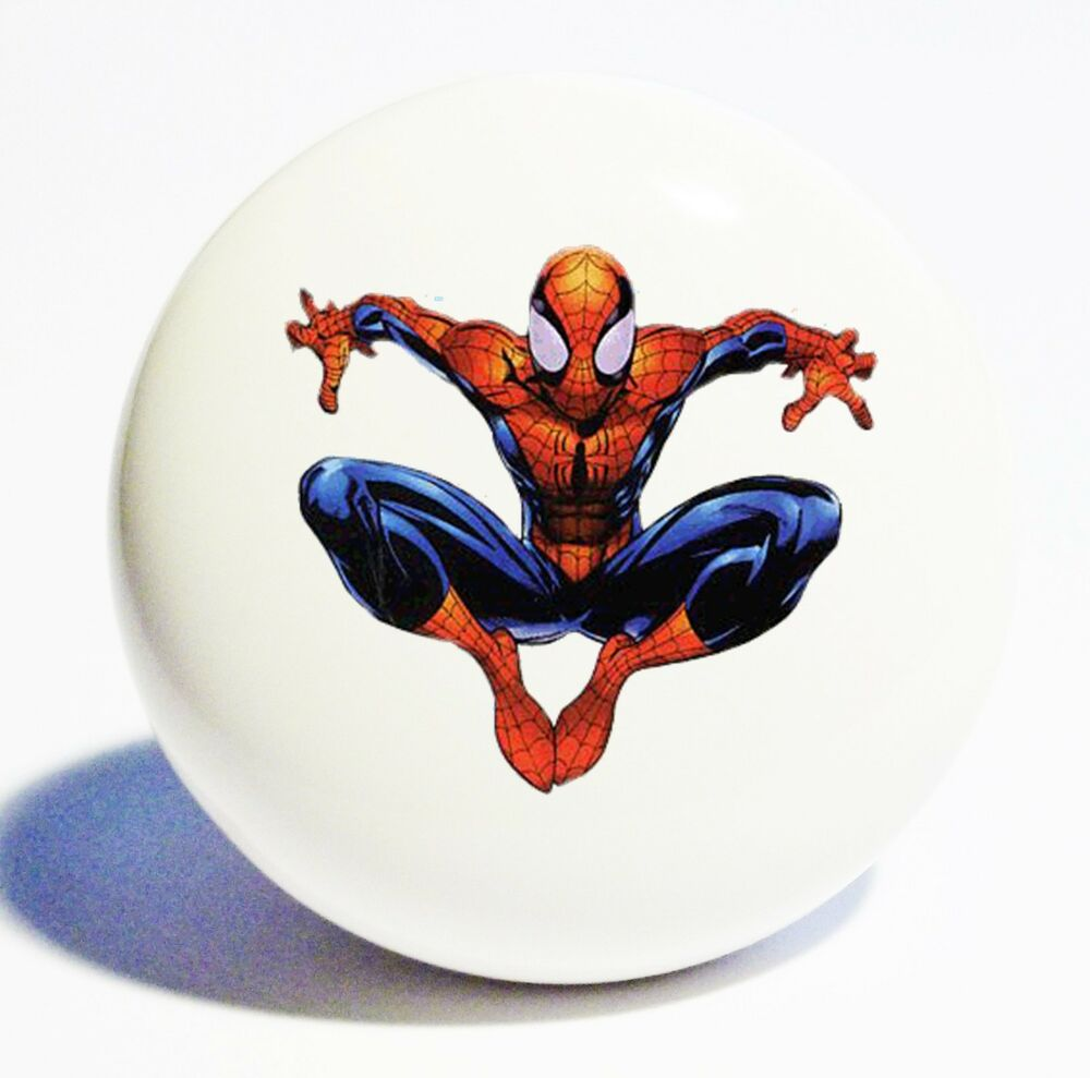 Http Www Ebay Com Itm Spiderman Hold Home Decor Ceramic Kitchen Knob Drawer Cabinet Pull 291029161263