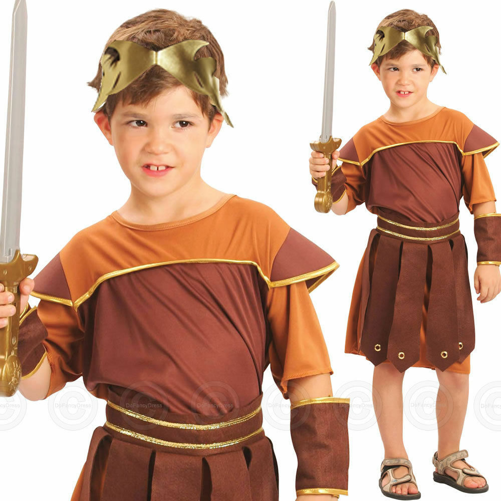 Boy Roman Soldier Fancy Dress Dressing Up Outfit World ...