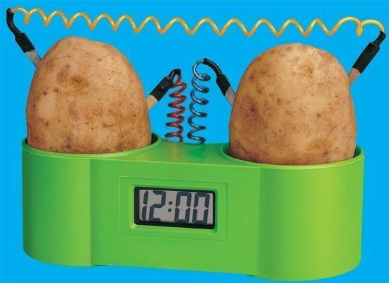 how to produce electricity from potato