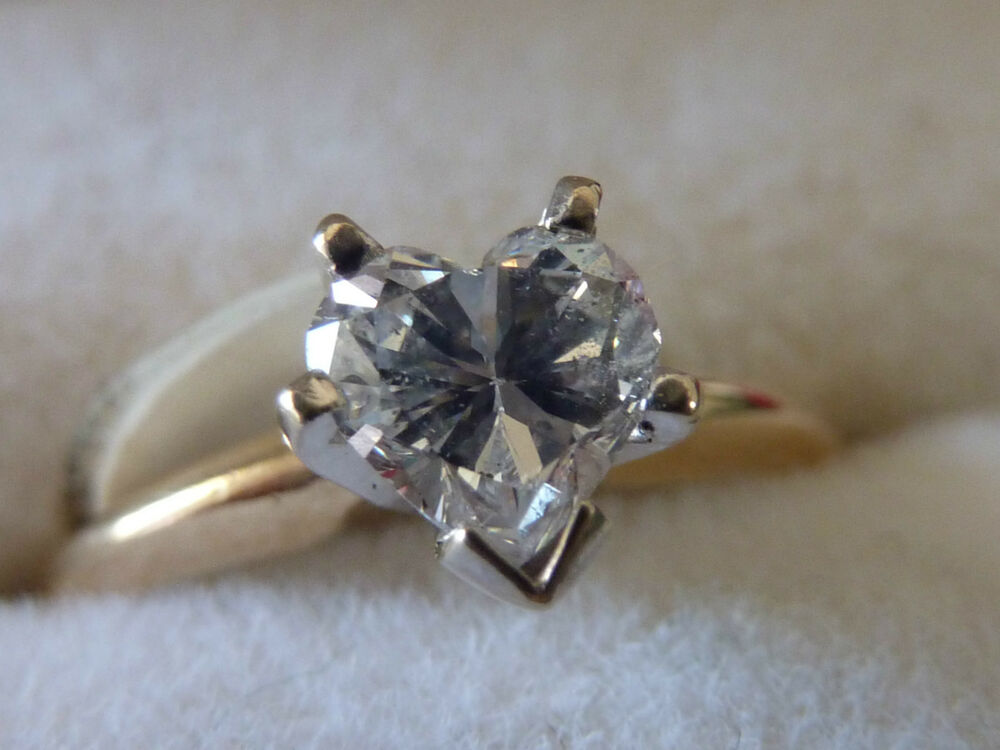 heart shaped diamond engagement ring ebay
