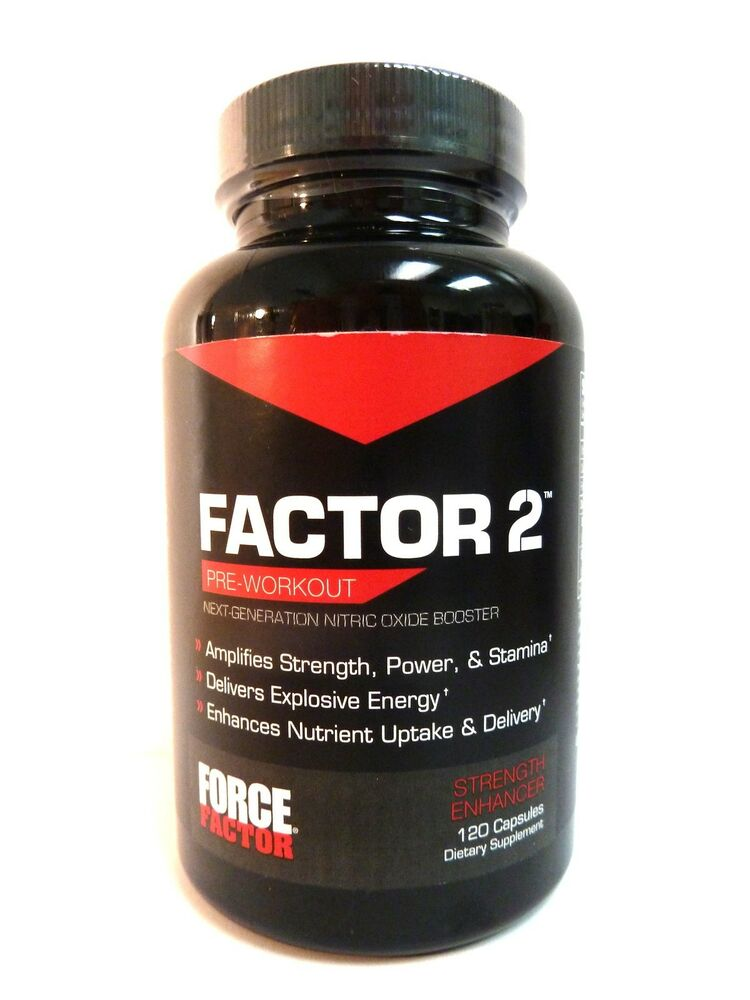Force Factor FACTOR 2 Pre-Workout Nitric Oxide Strength