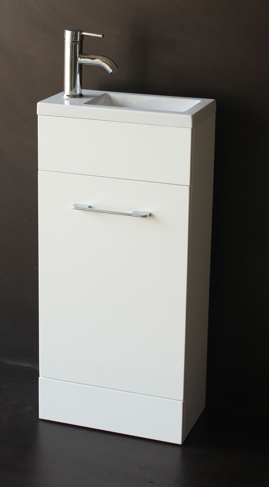 white gloss bathroom unit bathroom cloakroom vanity unit in gloss white finish ebay 21543