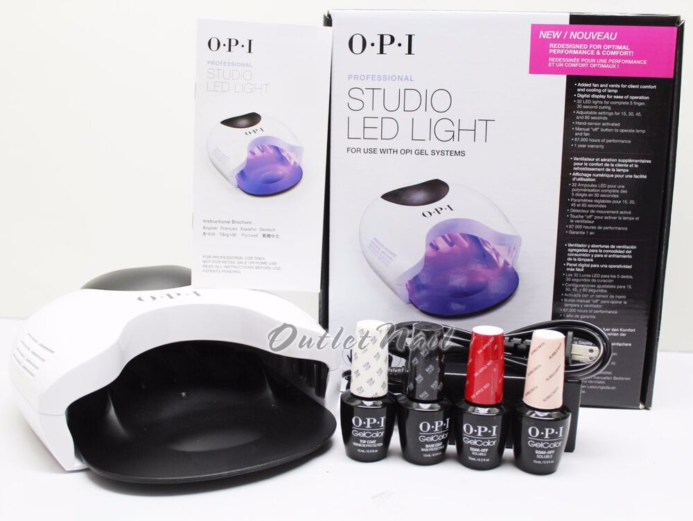 Opi Gelcolor Studio Led Light Lamp Gl900 Base Top Coat