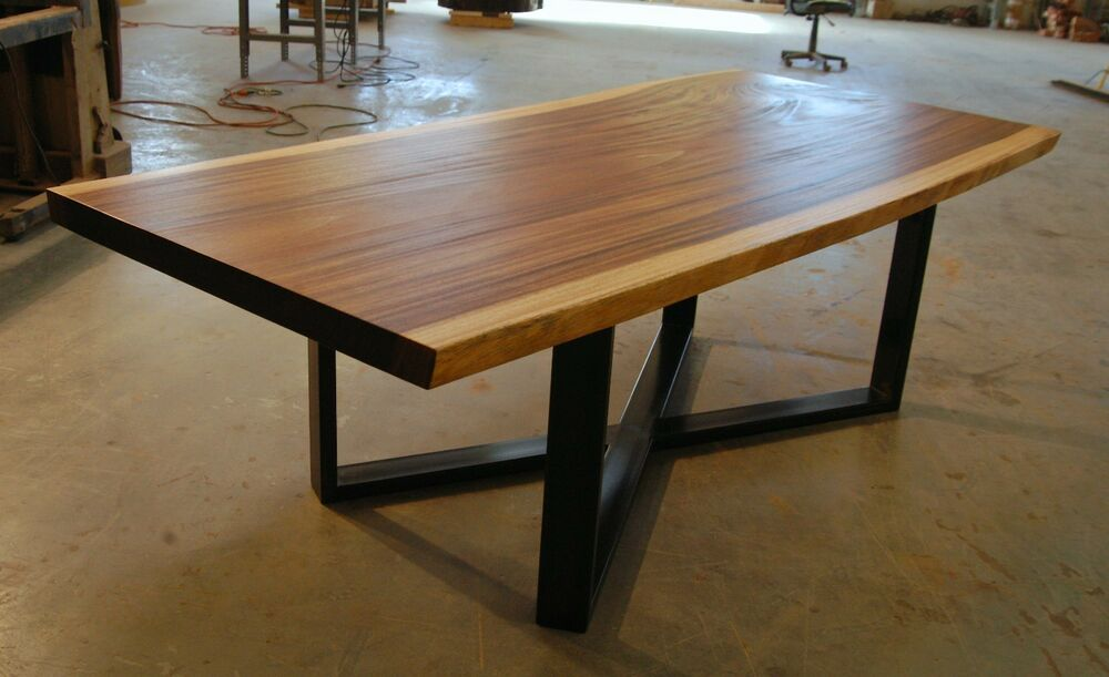 Single Slab Raw Edge Live Edge Monkeypod Dining Table Ebay