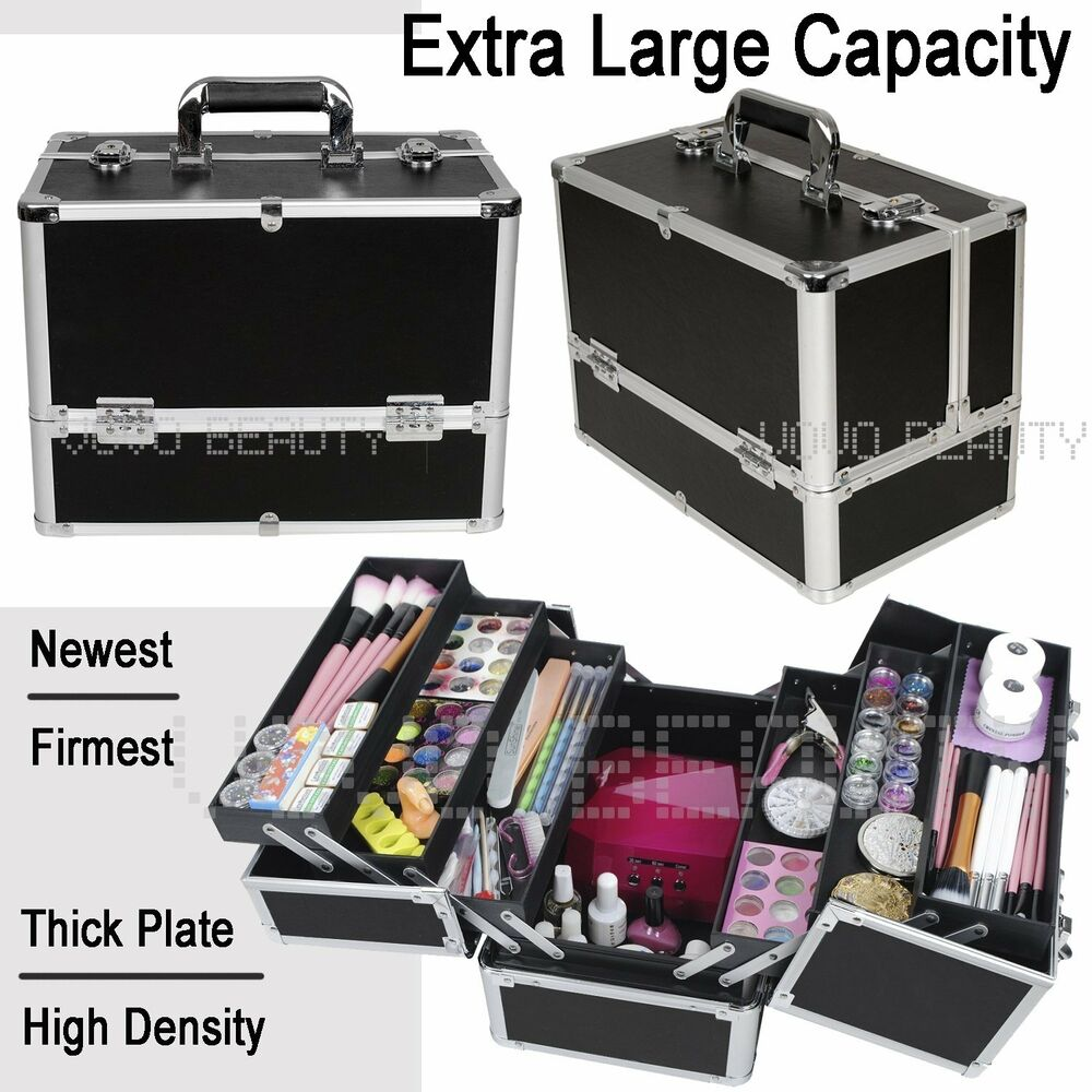 extra large space alu black beauty make up nail tech. Black Bedroom Furniture Sets. Home Design Ideas