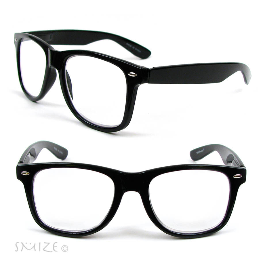 New Large Classic Frame Reading Glasses Nerd Geek Retro ...