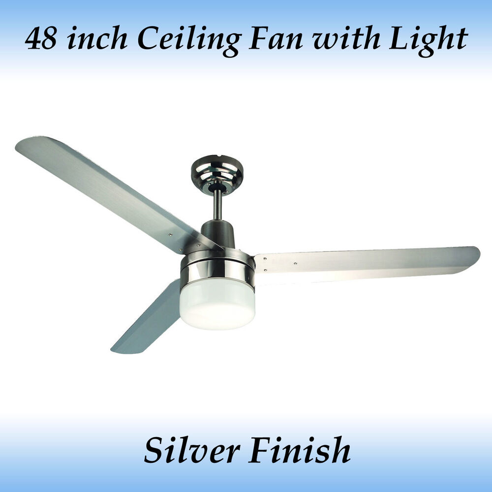 Fias Sparky 3 Blade 48 Inch Stainless Steel Blade Ceiling