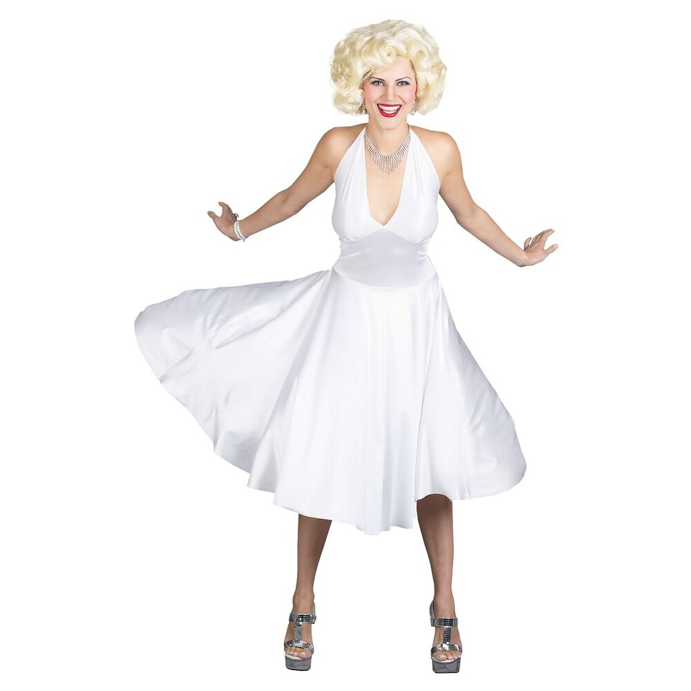 Deluxe Classic Marilyn Monroe Costume 1950's Pinup Sexy ...