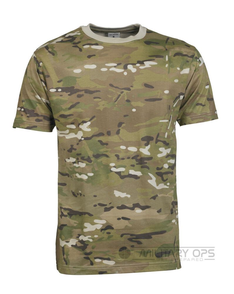 military mtp multicam camouflage camo t shirt us army 100 cotton. Black Bedroom Furniture Sets. Home Design Ideas