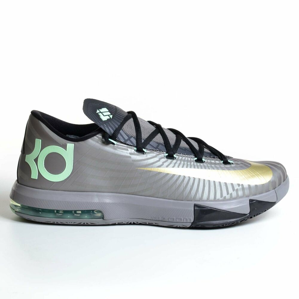 nike kd 6 precision timing pewter 2013 gold black vi