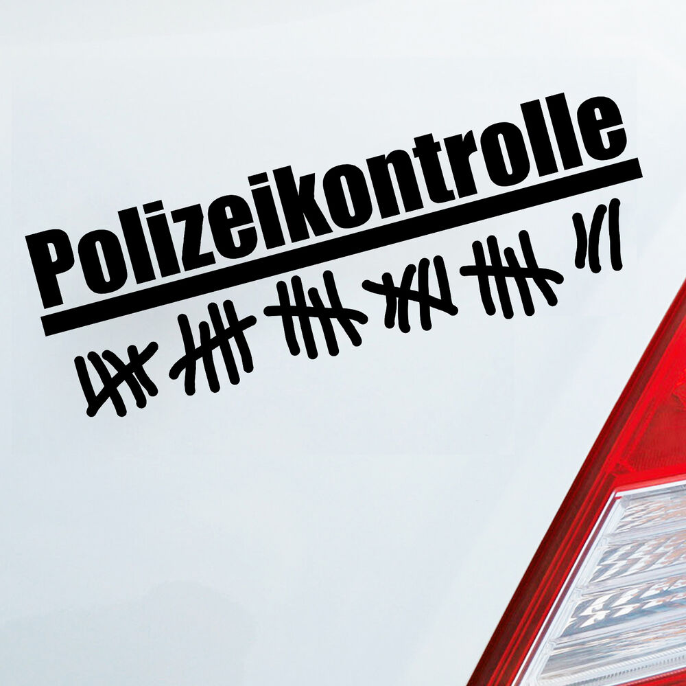 auto aufkleber polizeikontrolle strichliste polizei tuning fun jdm sticker 240 ebay. Black Bedroom Furniture Sets. Home Design Ideas