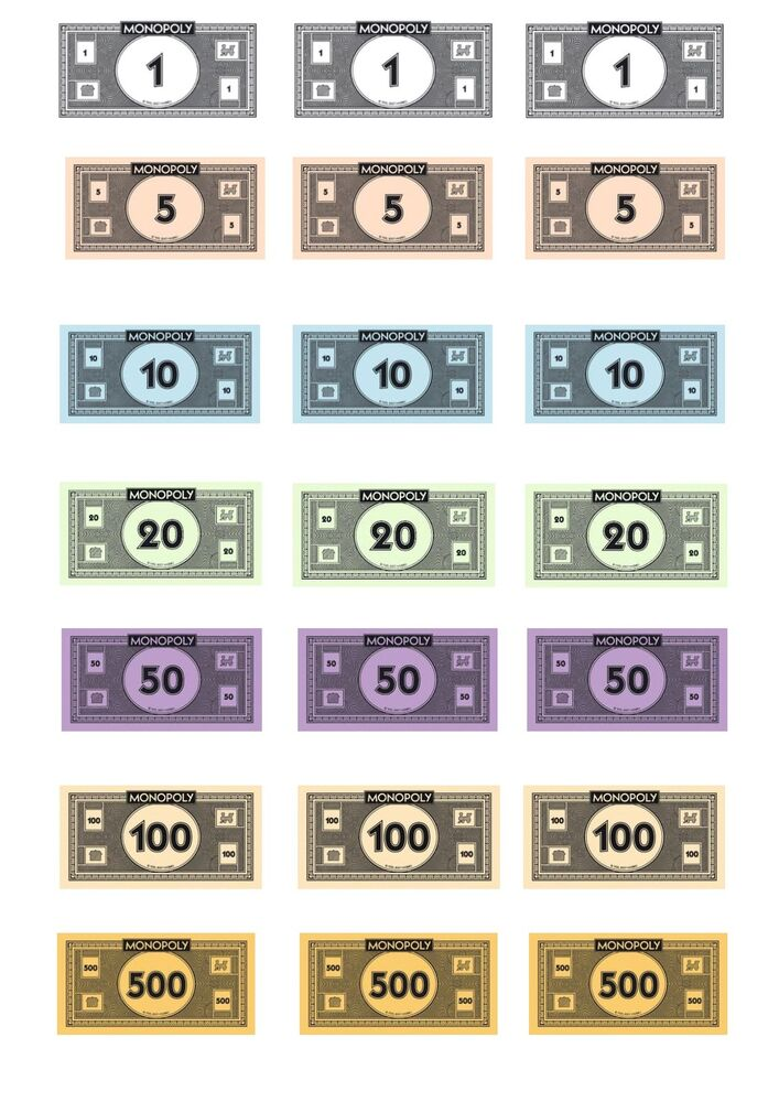 monopoly money templates - edible monopoly money iced icing frosting cake topper
