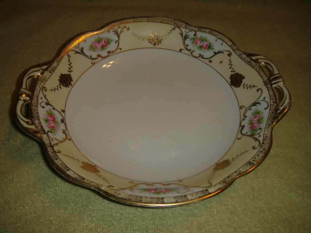 Hand Painted Pink And Gold Nippon Bowl