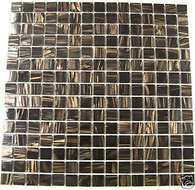mosaic kitchen tiles uk glass mosaic tiles brown with bronze shimmer sold per 7860