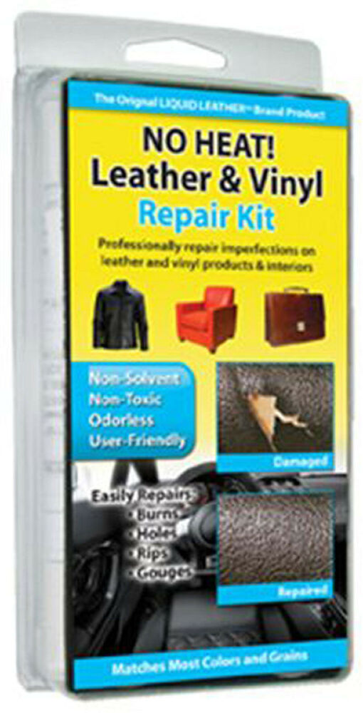 no heat liquid leather vinyl repair kit fix holes burns rips gouges ebay. Black Bedroom Furniture Sets. Home Design Ideas